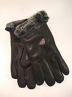 Перчатки мужские из натуральной кожи оленя мутон