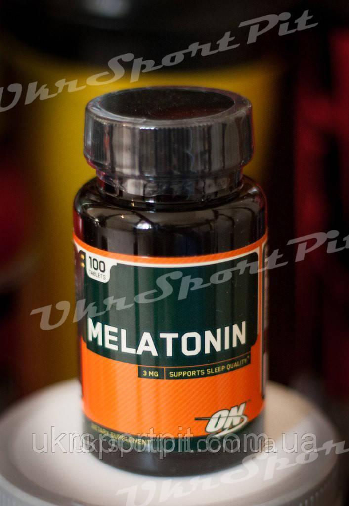 Melatonin (Мелатонин)  Optimum Nutrition 100 таб 3 мг
