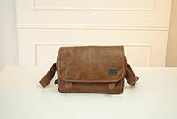 Мужская сумка Three Box, улучшенного качества. Светло-коричневая