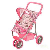 Коляска 9671, детская для кукол, металлический каркас, сдвоенные колеса поворот на 360 градусов, суперподарок