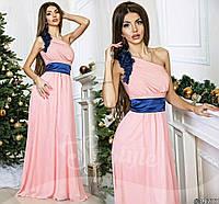 Женское платье в пол на одно плечо