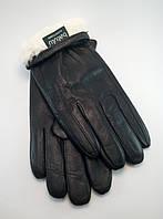 Перчатки мужские из натуральной кожи натуральный кролик