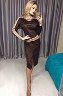 Женский модный замшевый костюм НТ8002