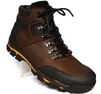 Кожаные зимние мужские ботинки Rosso Avangard  Lomerback Brown. Коричневые