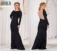 Платье Длинное Красивая Спина Нарядное Платье в пол Вечерний Наряд