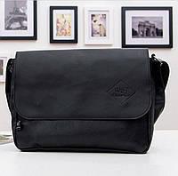 Удобная мужская сумка Three Box. Черная