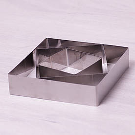 Набор из 3 квадратных форм Kamille для выкладки/вырубки 10*10/15*15/20*20см