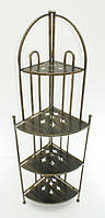 Полка (этажерка) кованая угловая 4, фото 1