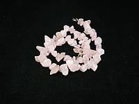 Крошка из розового кварца 45см