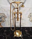 Напольный смеситель для ванны с лейкой 0214, фото 2