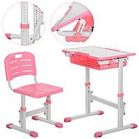 Детская ортопедическая  парта Bambi M 3230-8 Розовая