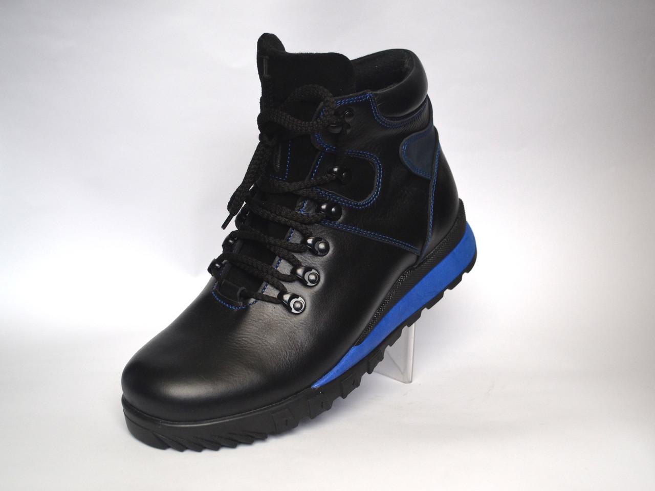 Кожаные зимние кроссовки сникерсы ботинки Rosso Avangard. Thimbo черные