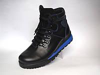 Кожаные зимние кроссовки сникерсы ботинки Rosso Avangard. Thimbo черные, фото 1