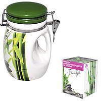 Ёмкость для сыпучих продуктов на зажиме Зеленый бамбук 1л