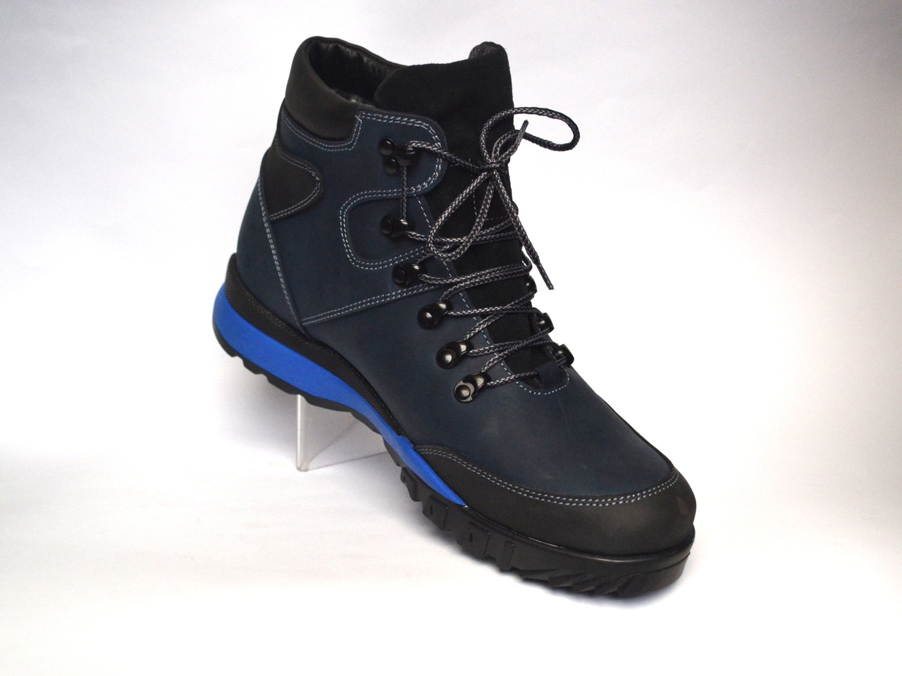 Кожаные зимние мужские ботинки Rosso Avangard Lomerback Bluline синие