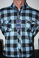 Теплая байковая рубашка