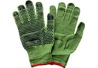 Перчатки х\б зеленые