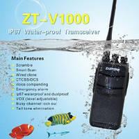 Радиостанция ZASTONE ZT-V1000 IP67 со скремблером и мощностью 8 Вт