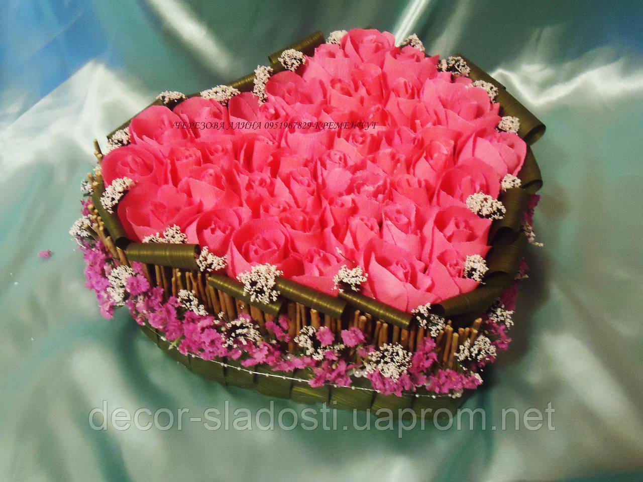 """Букет из конфет """"Сердечко№2"""""""