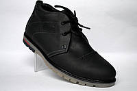Кожаные зимние мужские ботинки дезерты черные Rosso Avangard. WinterkingZ Black , фото 1