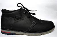 Кожаные зимние мужские ботинки WinterkingZ Black Rosso Avangard. черные