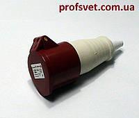 Розетка силовая 16А четырехполюсная (3Р+РЕ) 380в IP44 РС-214
