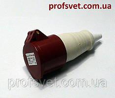 Розетка силовая 16А РС-214 380в 3Р+РЕ 4 полюса