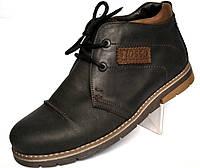 Кожаные зимние мужские ботинки дезерты черные  Rosso Avangard. WinterkingZ Black Street