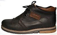 Кожаные зимние мужские ботинки WinterkingZ Black Street Rosso Avangard.  черные