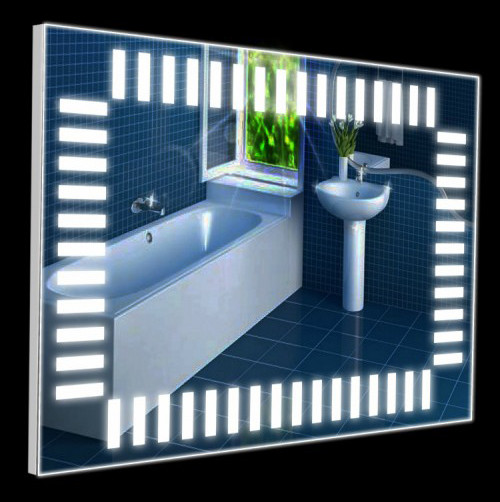 Настенное зеркало 60х80 со светодиодами