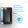 Чехол для iPhone Promate cardCase-I7 Black, фото 2