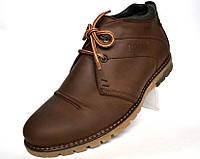 Ботинки мужские зимние кожаные коричневые дезерты обувь на меху Rosso Avangard WinterkingZ Brown, фото 1