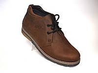 Ботинки мужские зимние коричневые кожаные обувь на меху дезерты Rosso Avangard King Brown, фото 1