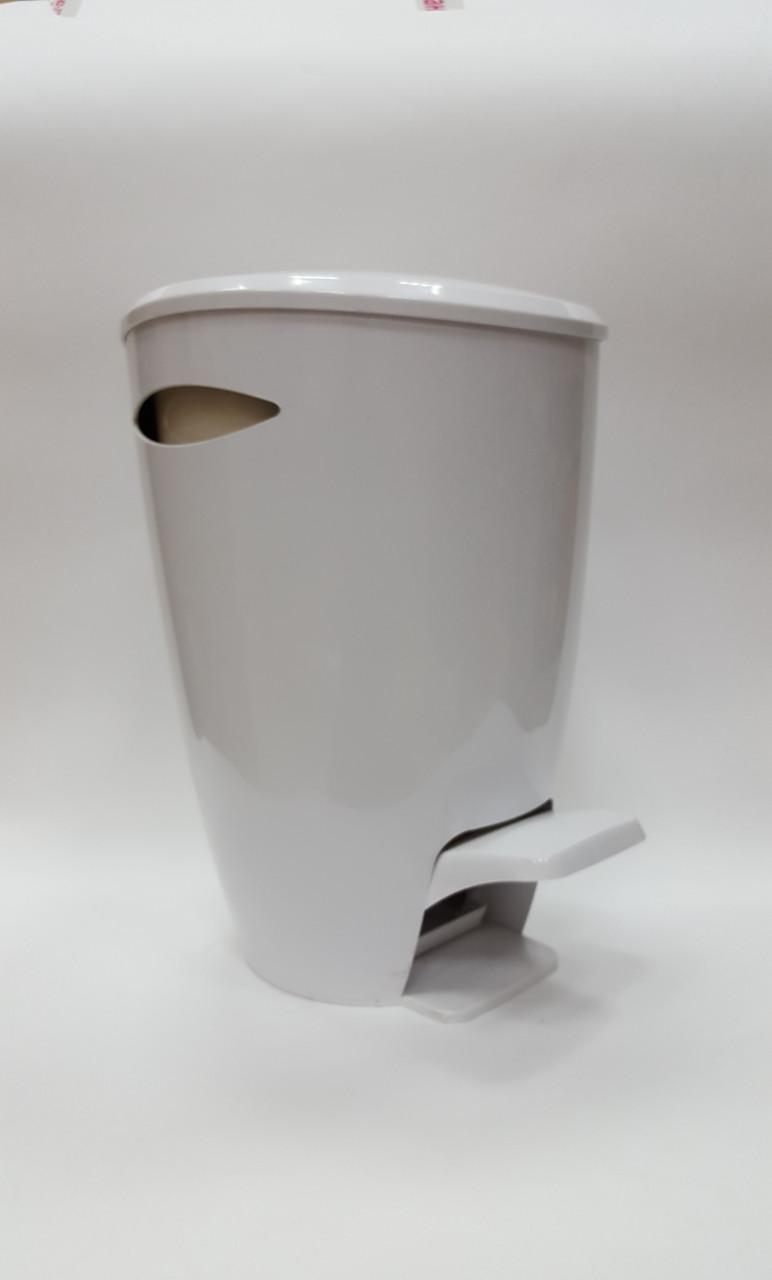 Ведро для мусора Фелиа цвет белый/бежевый
