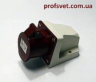 Розетка силовая 16А четырехполюсная (3Р+РЕ) 380в IP44 РС-114