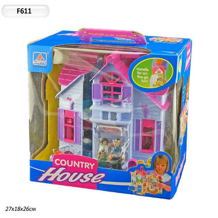 Дом 6980 F611, расскладной, с мебелью и жителями, увлекательная игра для малышки, в коробке 27*26*18 см , фото 2