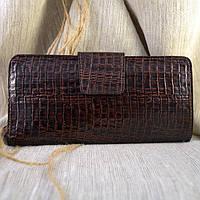 Кошелек большой кожаный К-22 (коричневая змея)