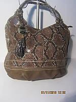 Бежевая сумка с рисунком под змею Baliford