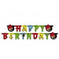 """Гирлянда-буквы """"Happy Birthday"""" Angry Birds"""