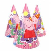 "Колпаки ""Свинка Пеппа"" розовые, 16 см"