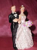 Свадебная фигурка для тортика, жених и невеста, 11 см