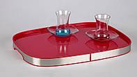 Пластиковый поднос с окантовкой (красный), 46*34,5 см, фото 1