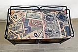 Диван с двумя ящиками кованый I Банкетка Прованс кованая, фото 3