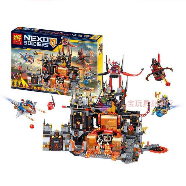 """Конструктор лего нексо Lele 79309 Nexo Knights """"Вулканическое логово Джестро"""", 1232 дет"""