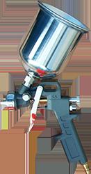 Лакокрасочный пневмопистолет, краскопульт, набор пневмоинструмента Eurotec AT 113