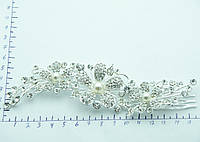 Нежные гребни с цирконием. Свадебная бижутерия RRR. 392