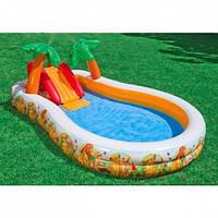 Надувной детский игровой центр - бассейн Intex, 57131 (330*193*107 см)