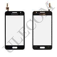 Тачскрин (сенсор) Samsung Galaxy Core 2 G355H, цвет черный, на 2 sim карты, ревизия 3, копия высоког