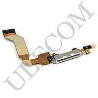 Шлейф для iPhone 4S с разъемом зарядки, цвет белый, копия высокого качества