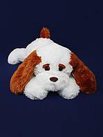 Собака «Тузик» мягкая 53 см белый и персиковый цвет